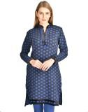 Hardys Solid Women's Kurti (Blue)