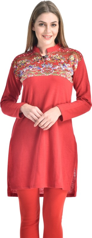 Hardys Casual Solid Women's Kurti(Red)