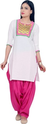 Rama Festive Embroidered Women's Kurti