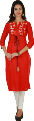 Tres Belle Casual Solid Women's Kurti