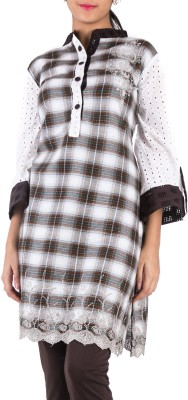 Hakoba Casual Checkered Women's Kurti