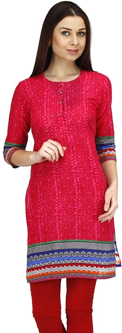 Dieu Casual Printed Womens Kurti(Multicolor)
