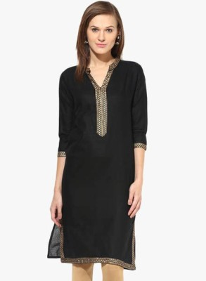 Chichi Wedding Printed Women's Kurti(Black) at flipkart