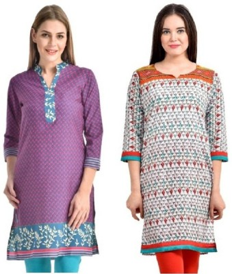 PINK SISLY Casual Solid Women's Kurti