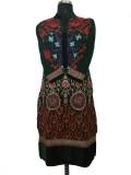 Jigyaasha Embroidered Women's Kurti (Gre...