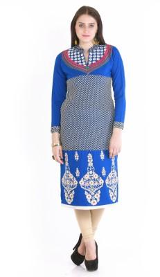 Rebecca Festive & Party Paisley Women's Kurti(Blue)