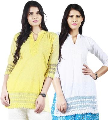 Haniya Casual, Formal Embroidered, Solid Women's Kurti