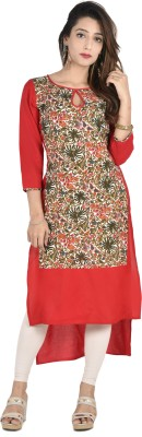 Style N Shades Casual Floral Print Women's Kurti(Red) at flipkart