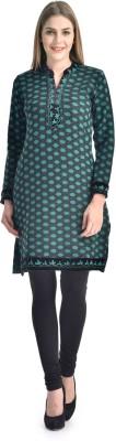 Sanvi Traders Casual Solid Womens Maternity Wear Kurti(Green)