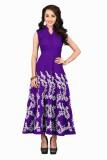 Khantil Embroidered Women's Kurti (Purpl...