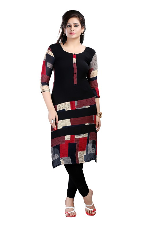 Ziyaa Casual Asymmetric Women's Kurti(Multicolor)