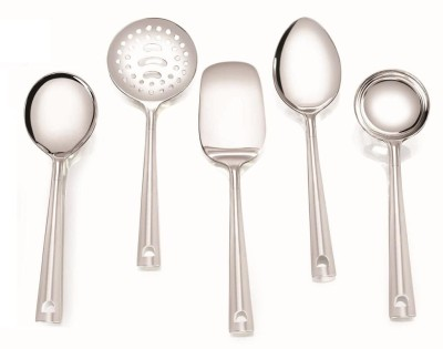 Pristine Mini Serving Spoon Set Stainless Steel Ladle(Silver, Pack of 5)