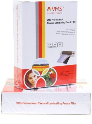 VMS Professional Thermal Laminating Pouch Film 70 X 100 - 125 Microns ID card Size (Set of 2) Laminating Sheet(125 mil Pack of 2)