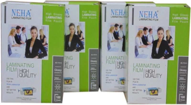 NEHA Military Card Laminating Sheet(250 mil Pack of 4)