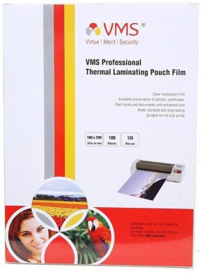VMS Thermal Lamination Pouch 100x230 -125 MIC Laminating Sheet(125 mil Pack of 100)