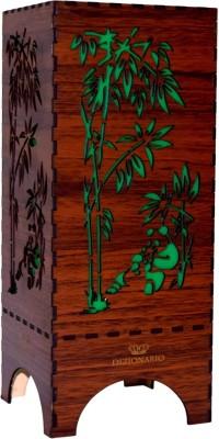 DIZIONARIO Dark Wooden Panda Table Lamps Lamp Shade