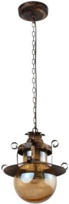 KRISHANA Brown Steel Pendent Lamp Hanging Lights (Pendant Lights) Lamp Shade