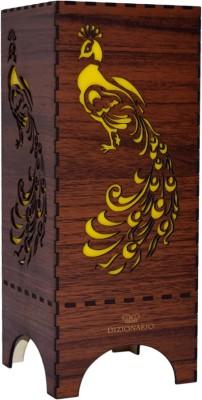 DIZIONARIO Wooden Shade peacock Table Lamps Lamp Shade