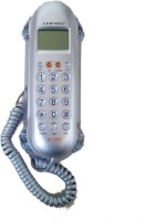 Swarish Jumbo KX-T666 LCD Telephone For Office and Home Corded Landline Phone(Silver)