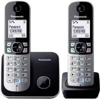Panasonic KX TG 6812 Cordless Landline Phone(Black, Silver)