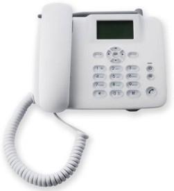 Sai Ram F317 SIM enabled Cordless with FM Radio Landphone Corded Landline Phone(White) Cordless Landline Phone(White)