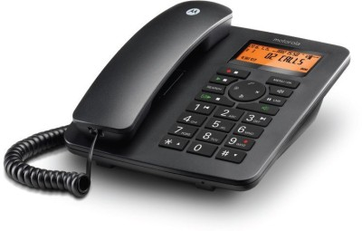 Motorola CT111 Corded Landline Phone with Answering Machine(Black)