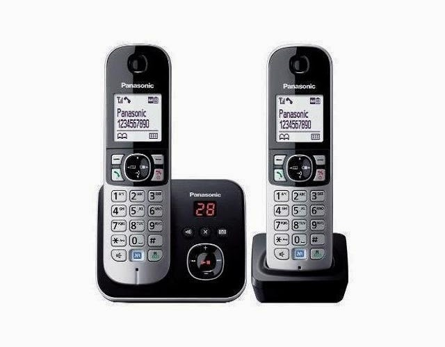 Panasonic PA-KX-TG6822 Cordless Landline Phone with Answering Machine class=