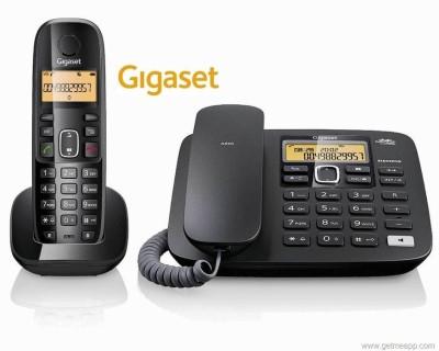 Gigaset A590 Corded & Cordless Landline Phone(Black)