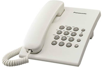 Panasonic KX-TS500MX Corded Landline Phone(White)