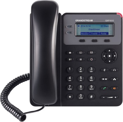 Grandstream GXP1610 Corded Landline Phone(Black)
