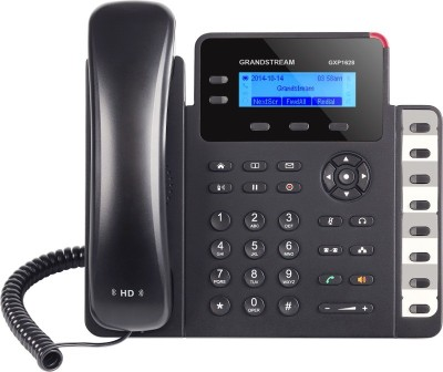 Grandstream GXP1628 Corded Landline Phone(Black)