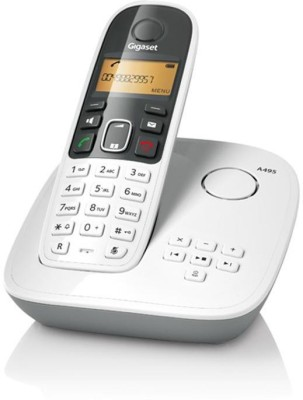 Gigaset A495 Cordless Landline Phone with Answering Machine(White)