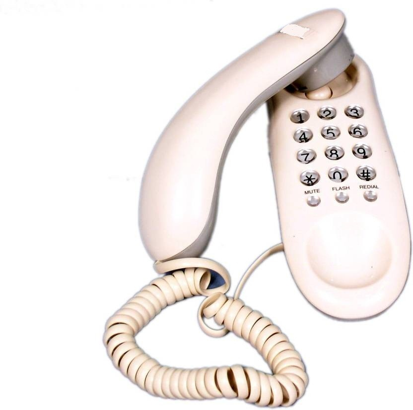 View Swarish Office and Home Purpose Telephone Corded Landline Phone(White) Home Appliances Price Online(Swarish)