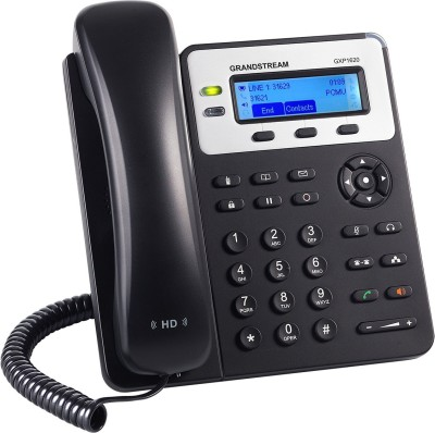 Grandstream GXP1625 Corded Landline Phone(Black)