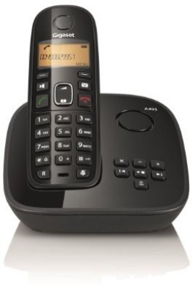 Gigaset A495 Cordless Landline Phone with Answering Machine(Black)