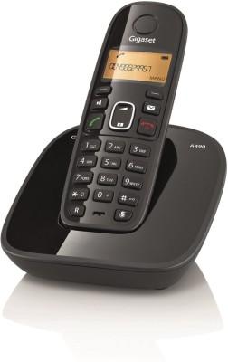 Gigaset A490 Cordless Landline Phone(Black)