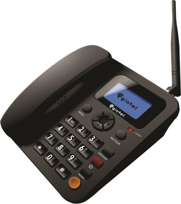 GIOTEL G2 Dual SIM Fixed Wireless Phone Corded Landline Phone(Black)