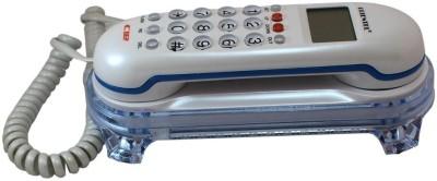 Italish White Orientel Jumbo Lcd Cid Back Light Kx-T666 Corded Landline Telephone Corded Landline Phone(White)