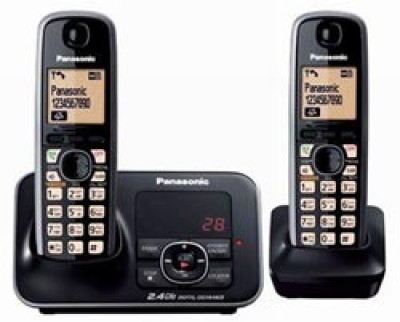 Panasonic KXTG-3722 Cordless Landline Phone(Black)