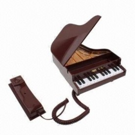 Tootpado Piano Shape Corded Landline Phone