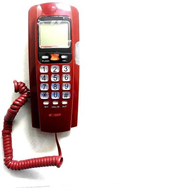 Swarish Telephone Corded Landline Phone(Red)
