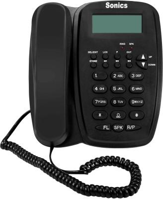 Sonics SS-916 Corded Landline Phone(Black)