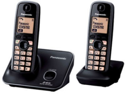 Panasonic KXTG-3712 Cordless Landline Phone(Black)