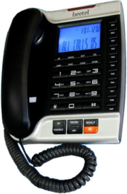 Beetel M70 Corded Landline Phone(Black and Silver)