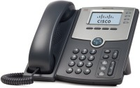 Cisco SPA 504G 4-Line IP Phone Corded Landline Phone(Black)