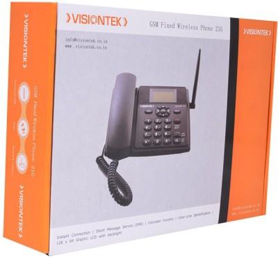 Visiontek 21G GSM Walky Corded Landline Phone(Black)