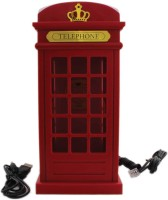 Tootpado Phone Booth Design Corded Landline Telephone - Novelty Home Decor Creative Fixed Corded Landline Phone(Red)