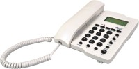 Ptel PT-99 Corded Landline Phone(White, Black)