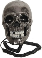 Tootpado Skull Shape Wired with Led Eyes Corded Landline Phone(Black)