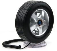 Tootpado Wheel Shape With LED Light Corded Landline Phone(Black)